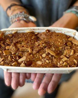 עוגת תפוחים בדבש ושקדים